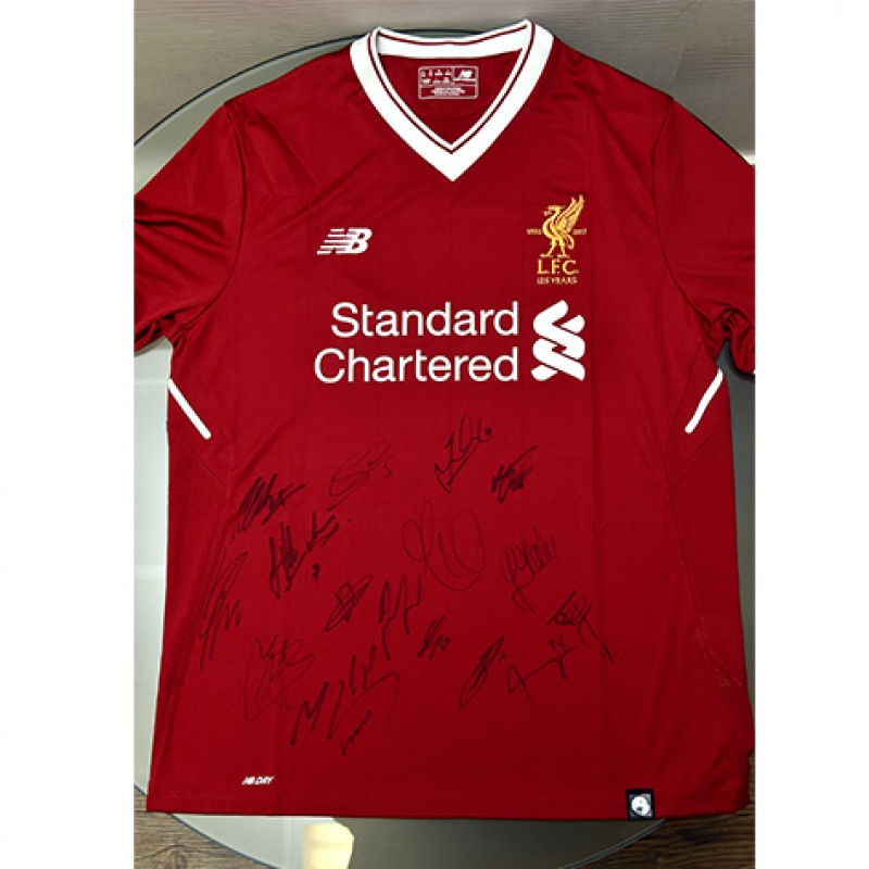 Liverpool FC 125 Years Home Shirt Signed by the Team