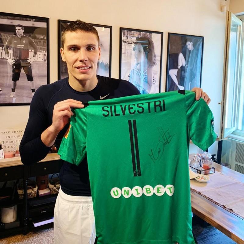 Silvestri's Hellas Worn and Signed Shirt, Verona-Pescara Playoff 2019