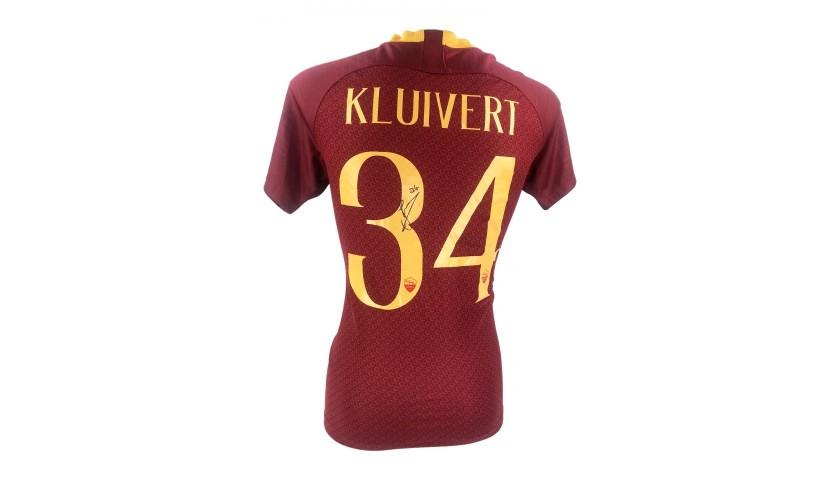 Justin Kluivert Signed AS Roma Shirt 18 19 - CharityStars b49ef6400
