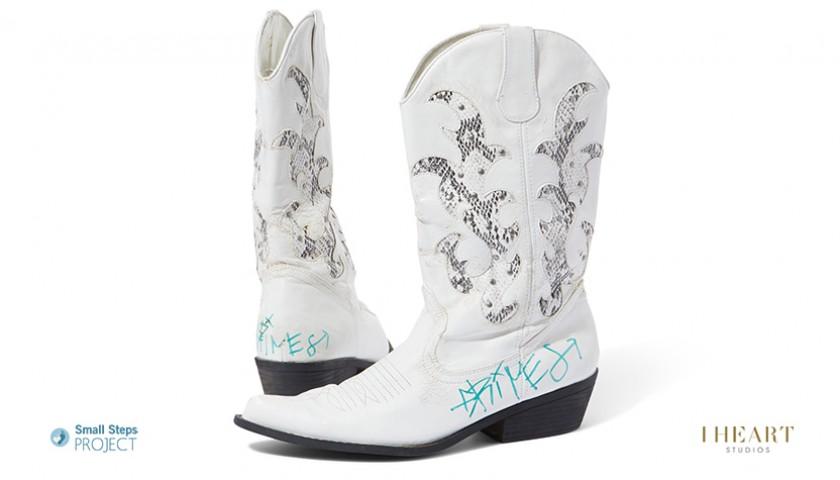 Grimes Signed Shoes