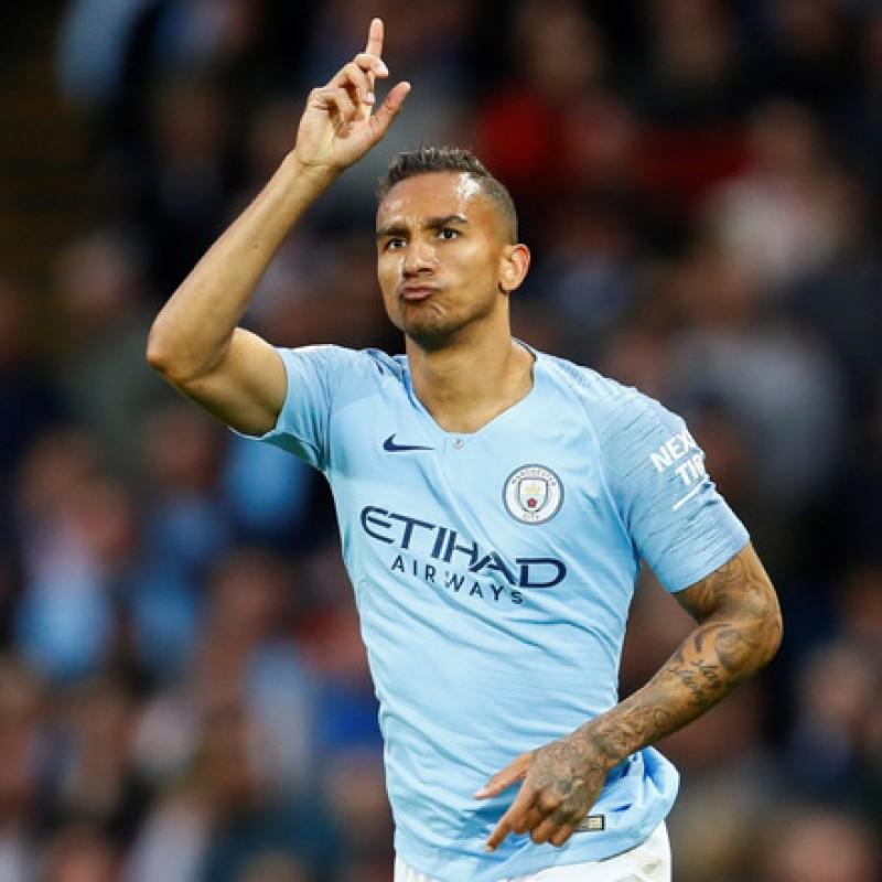 Danilo's Manchester City Match White Shorts, Premier League 2018/19