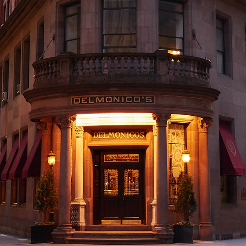 Dinner at Delmonico's in NYC