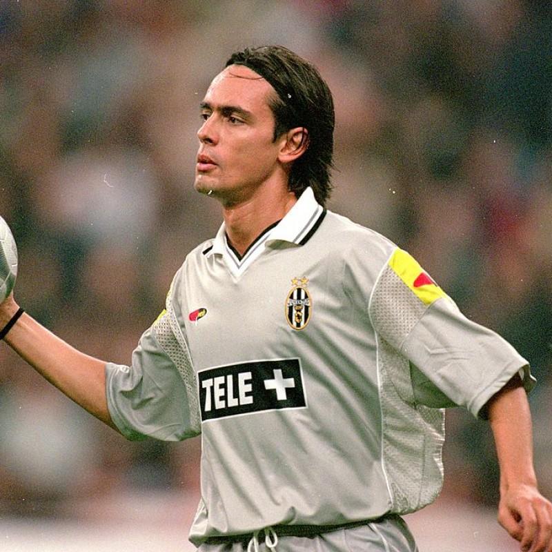 Inzaghi's Roma-Juventus Worn Shirt, 2000