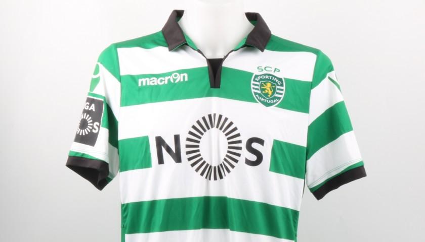 Bas Dost Goal Match Worn Shirt, Estoril-Sporting CP 25/02/2017