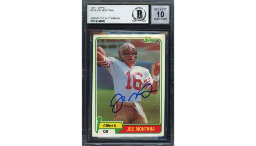 Joe Montana Signed Rookie Card