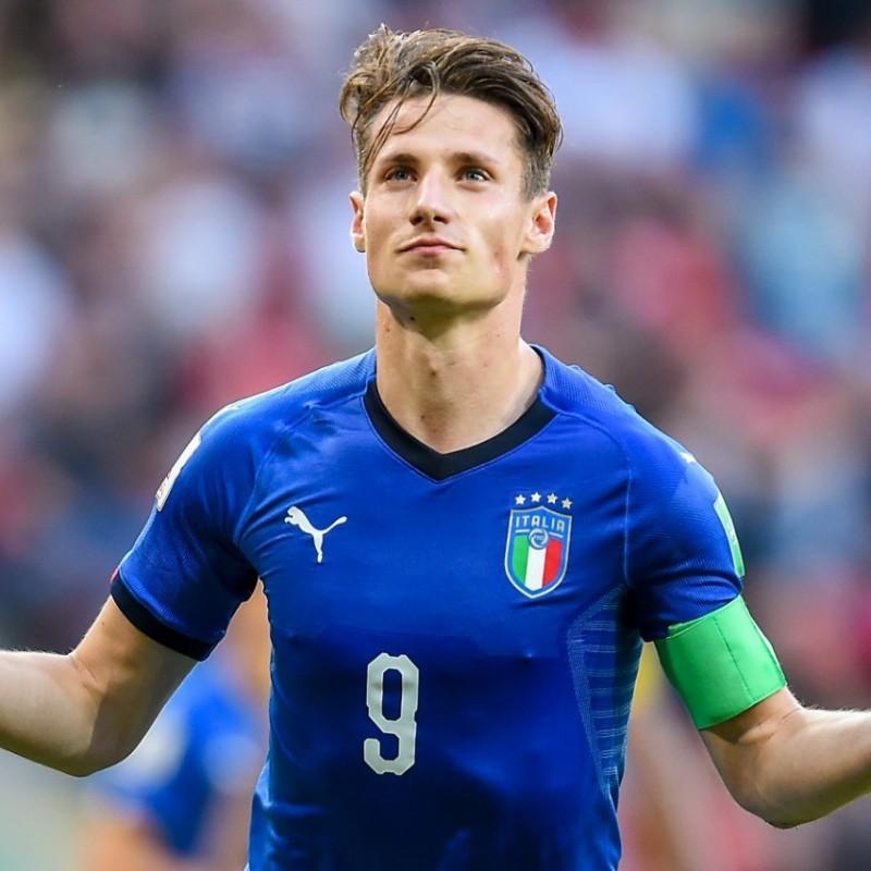 Pinamonti's Italy Match Shirt, U-20 World Cup 2019