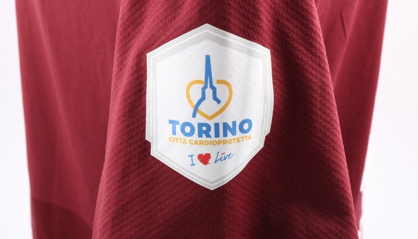 Belotti's Match-Issue Torino-Benevento Shirt with Special Patch
