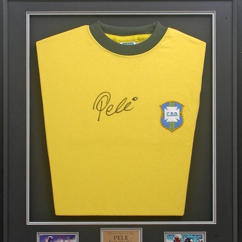 Rare Pele Brazil Shirt Signed