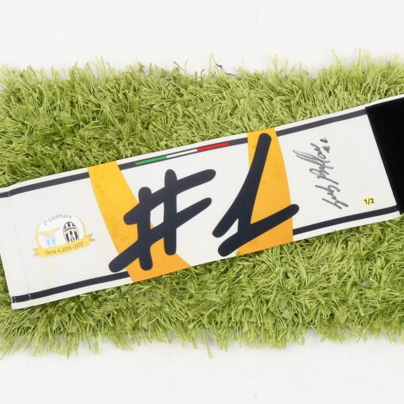 Buffon's Worn Captain Armband, Lazio-Juve 2016 - Signed