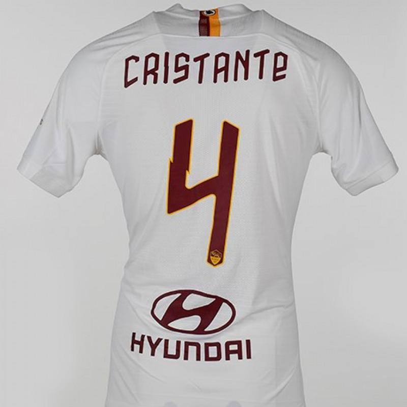 """Cristante's Worn Shirt, Roma-Parma - """"Grazie Maestro"""""""