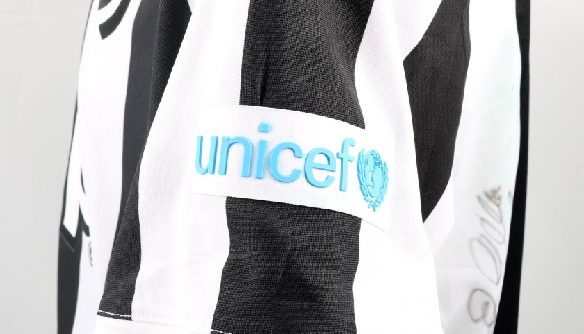 Chiellini's Match-Worn and Signed Shirt with UNICEF Patch, Sampdoria-Juventus