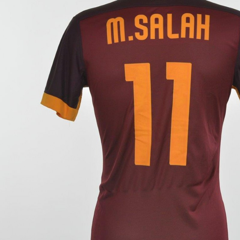 Authenticated Salah shirt issued for Frosinone 0-2 Roma