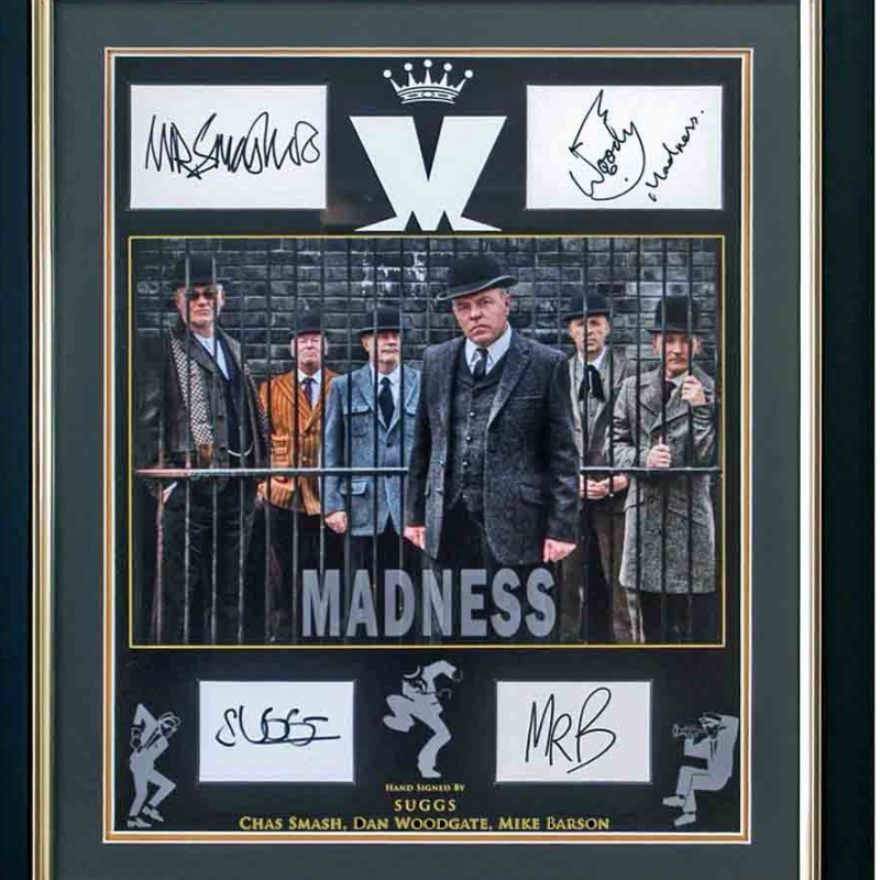 Madness Presentation Signed by Suggs, Chas Smash, Dan Woodgate & Mike Barson