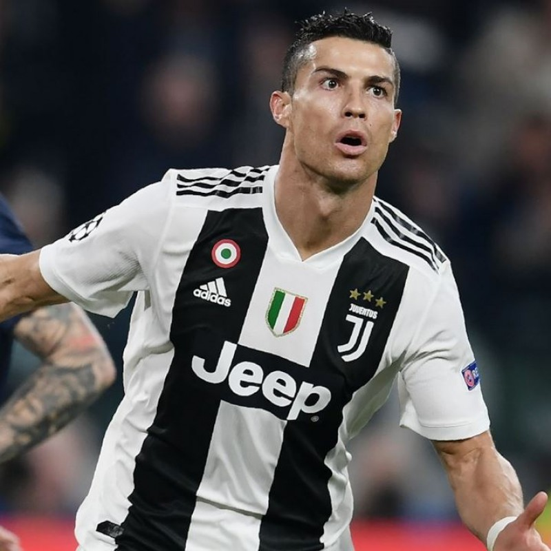 Ronaldo's Juventus Match-Issue Shirt, UCL 2018/19