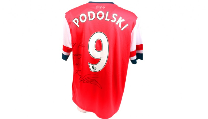 size 40 9a971 820f7 Podolski Signed, Official 2012/2013 Arsenal Shirt - CharityStars