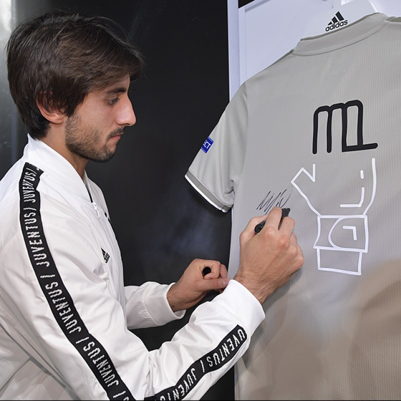 """Perin's Juventus """"Here to Create"""" Signed Shirt"""