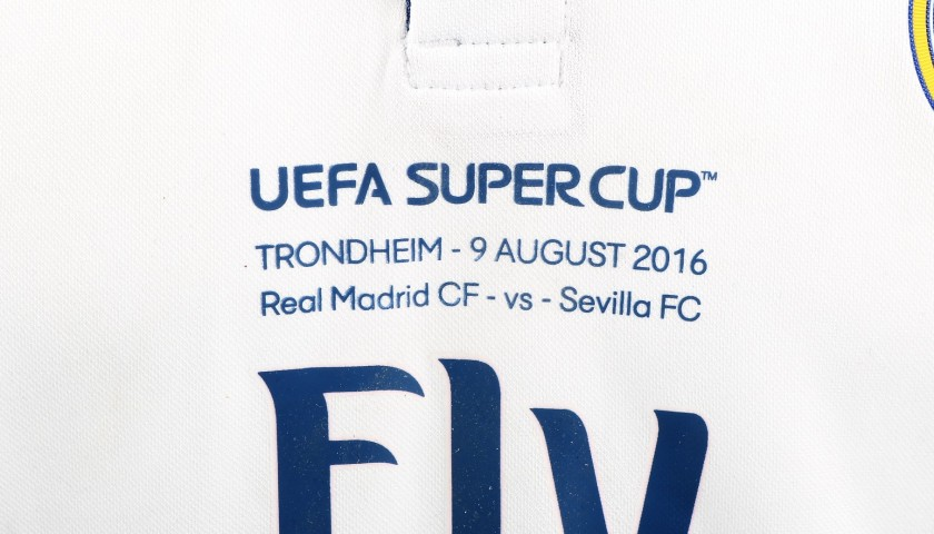James' Match-Issued/Worn Madrid Shirt, 2016 UEFA Super Cup