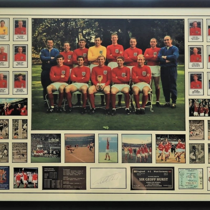 England World Cup 1966 Winners Montage Signed by Sir Geoff Hurst