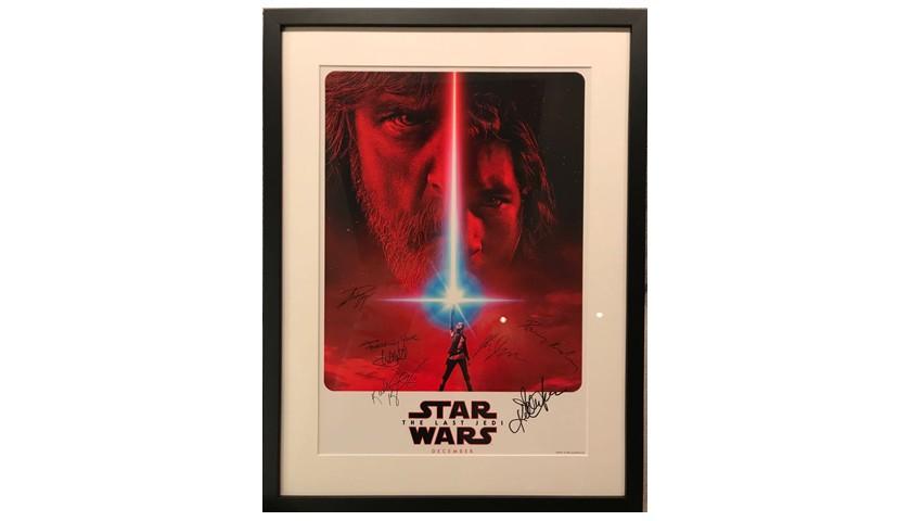 "Original and Unique Signed ""Star Wars: The Last Jedi"" Poster"