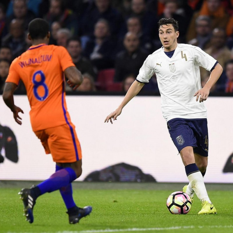 Darmian's Issued/Worn Shirt, Netherlands-Italy 2017