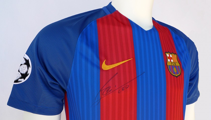 Signed Lionel Messi 2016 17 Jersey Charitystars