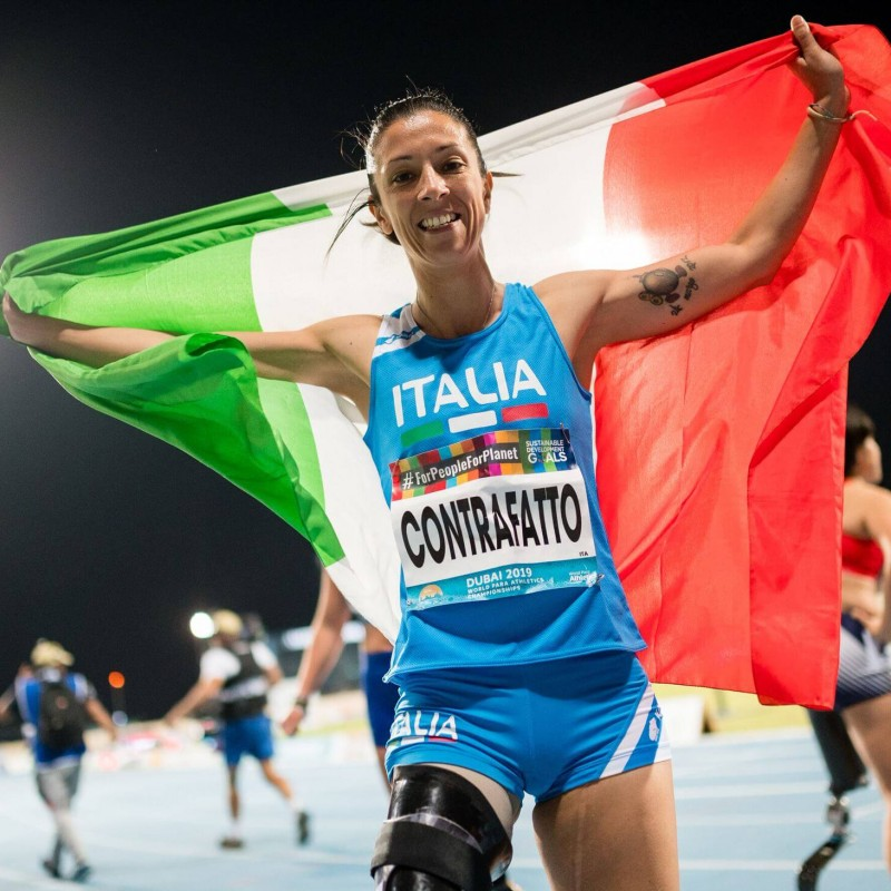 Italy Paralympics Polo Shirt Worn by Monica Contrafatto at Rio 2016