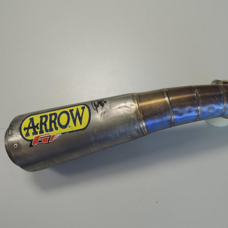 Team Dynavolt silencer, used by Sandro Cortese