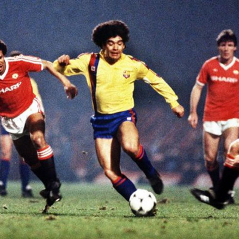 Maradona's Signed Match-Issued Barcelona Shirt, 1983/84