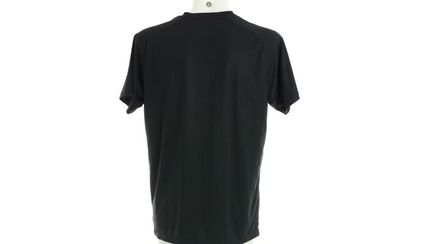 """""""Black Lives Matter"""" Training Shirt, Juventus-Milan - Signed by Bonaventura"""