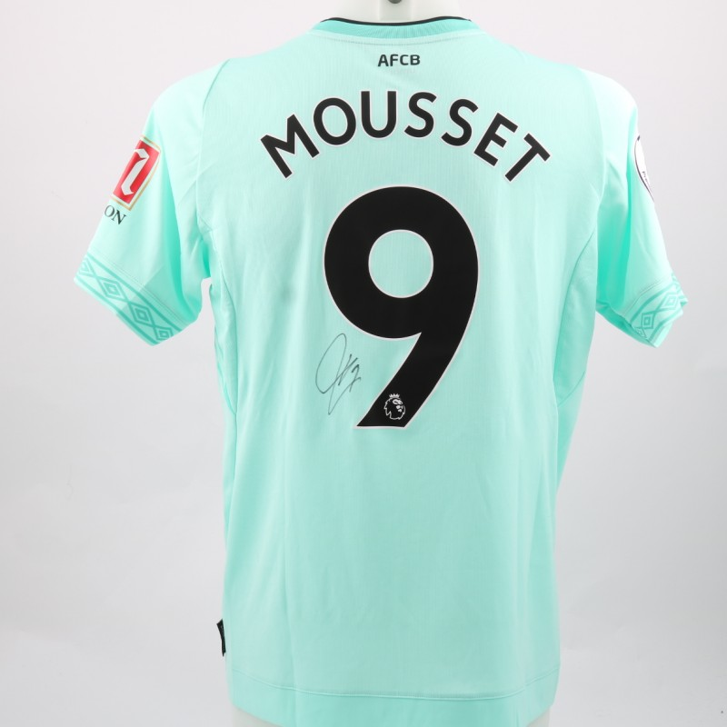 Mousset's AFC Bournemouth Worn and Signed Poppy Shirt