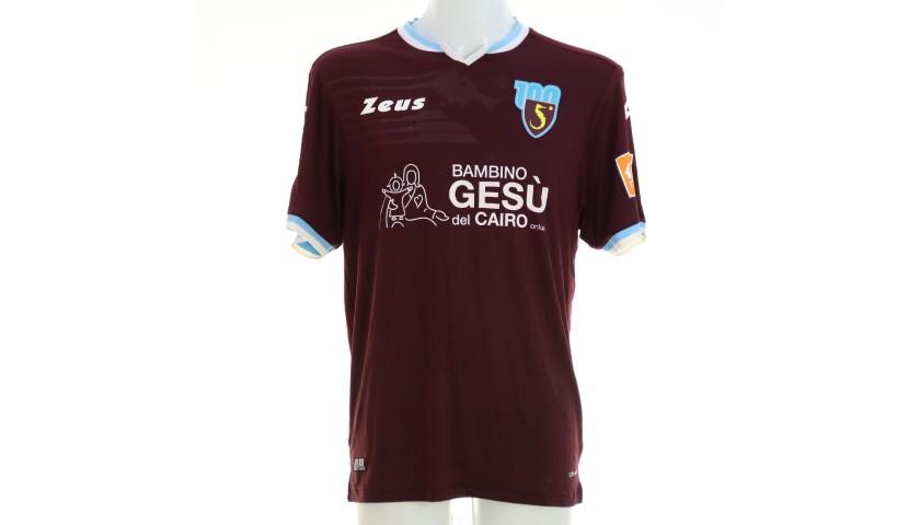 Curcio's Worn Shirt, Salernitana-Spezia 2020