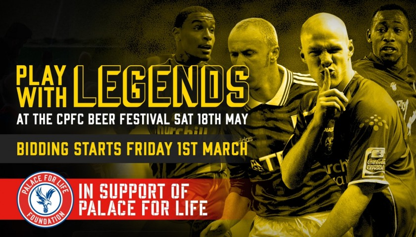 Play Right Centre Forward Alongside Crystal Palace F.C Legends John Salako and Fitz Hall