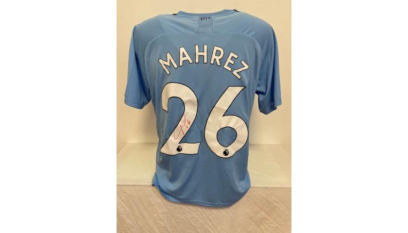 Mahrez's Official Manchester City Signed Shirt, 2019/20