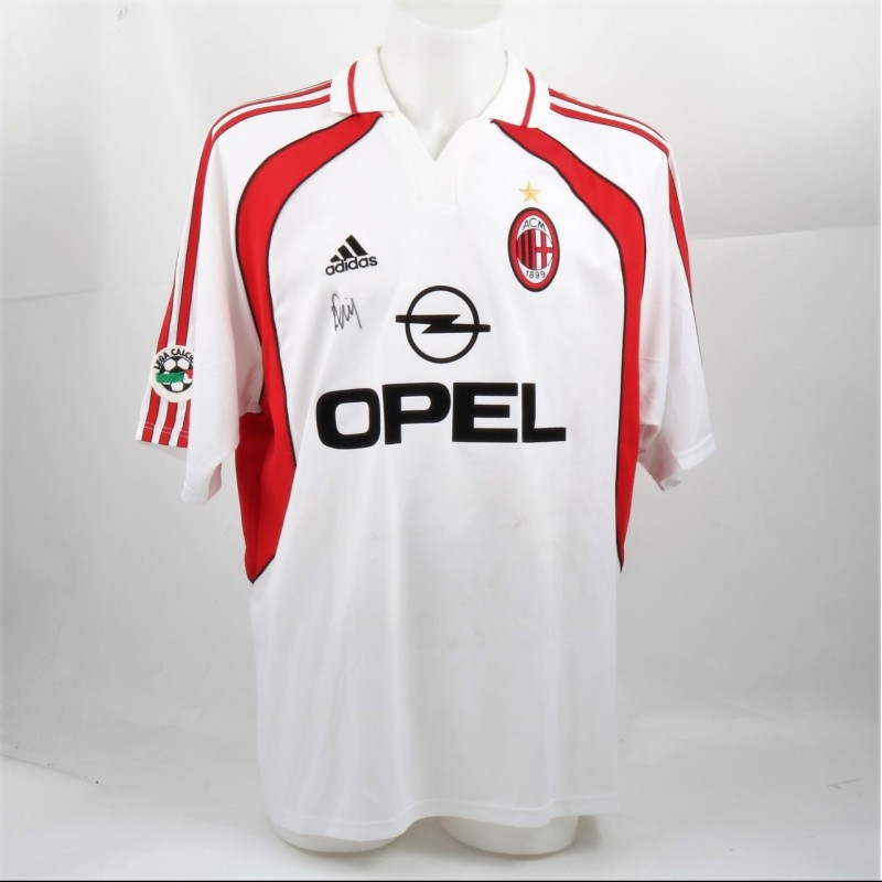 Costa's Signed Milan Shirt, Issued/Worn 2001/02