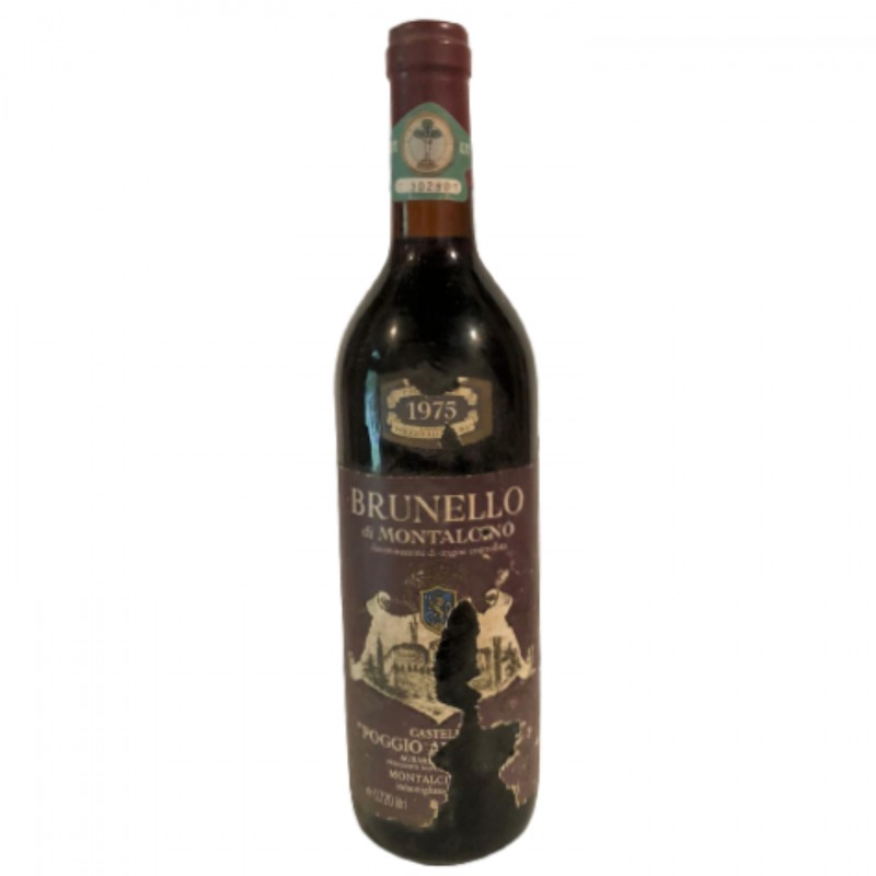Bottle of Brunello di Montalcino, 1975 - Castello Poggio alle Mura