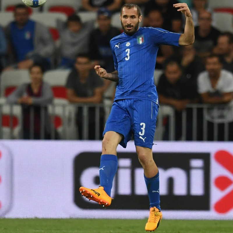 Chiellini's Match Shirt, Uruguay-Italy 2017