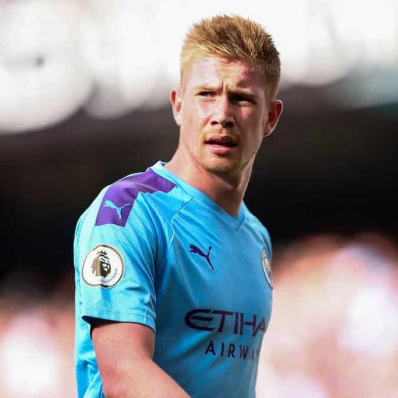 De Bruyne's Official Man City Signed Shirt, 2019/20