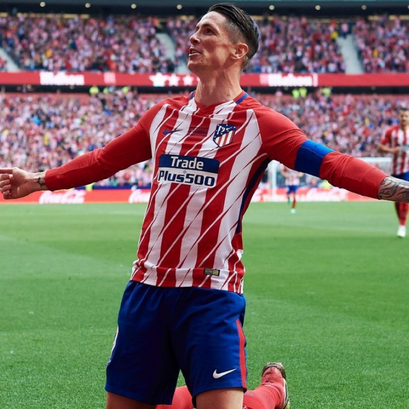 Torres's Match Shirt, Atletico Madrid-Eibar - Torres Last Match