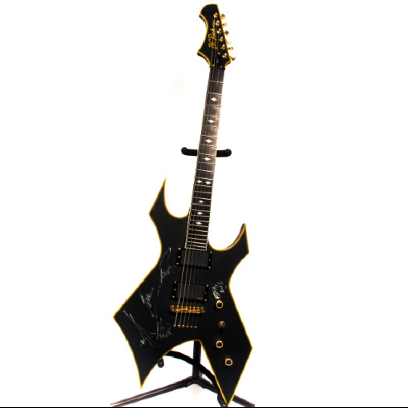 Signed Bullet For My Valentine BC Rich Warlock Guitar