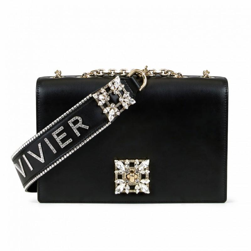 Miss Vivier Fibbia Strass Bag