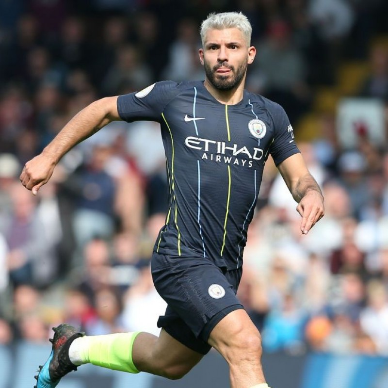 Aguero's Manchester City Match Navy/Volt Shorts, Premier League 2018/19