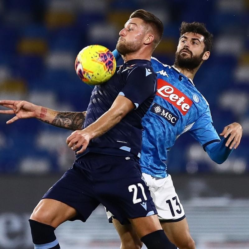 Luperto's Worn Shirt, Napoli-Lazio Coppa Italia 2020