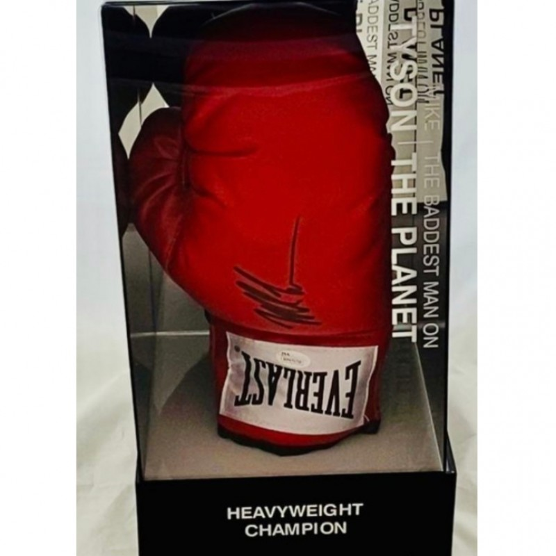 Mike Tyson Signed Red Boxing Glove with Light Up Display