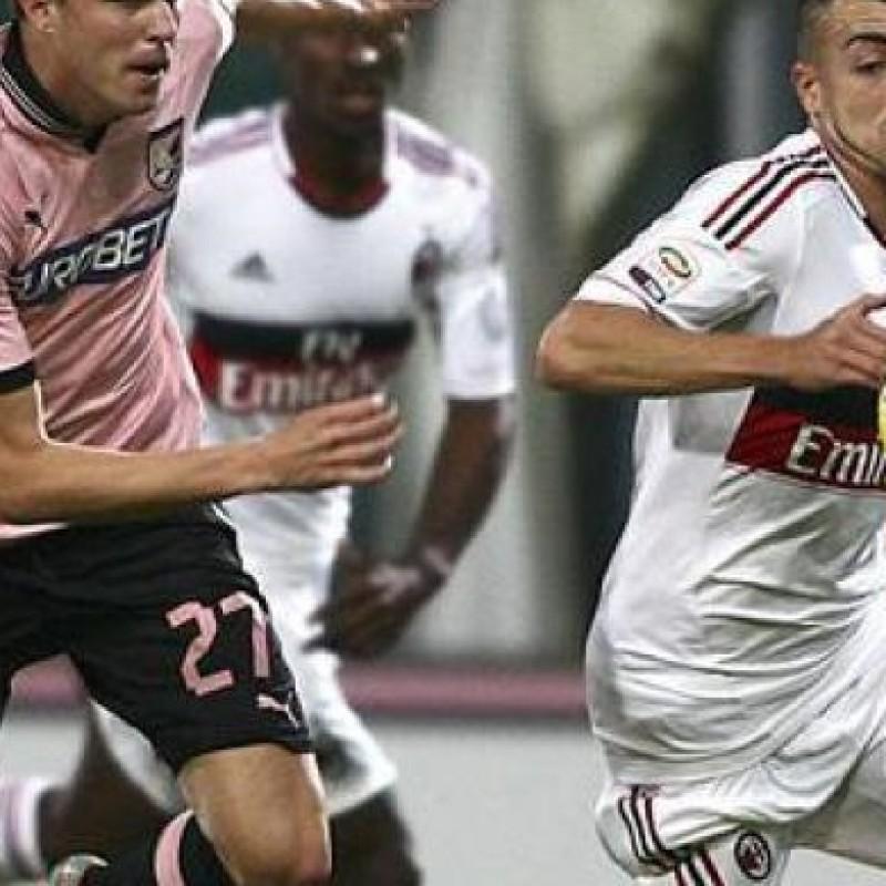 El Shaarawy Milan match worn shirt, Palermo-Milan Serie A 2012/2013