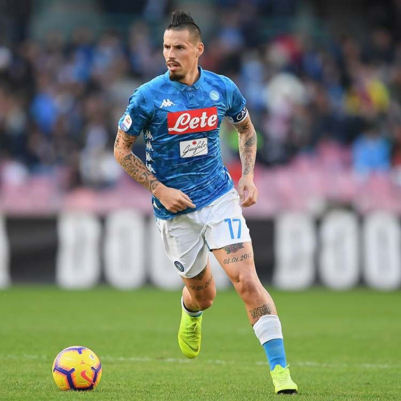 Hamsik's Napoli Worn and Unwashed Shirt, Serie A 2018/19