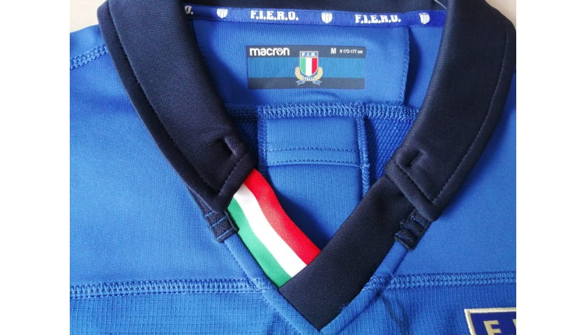 Italy Rugby Match Shirt, 2019 - Signed by the players