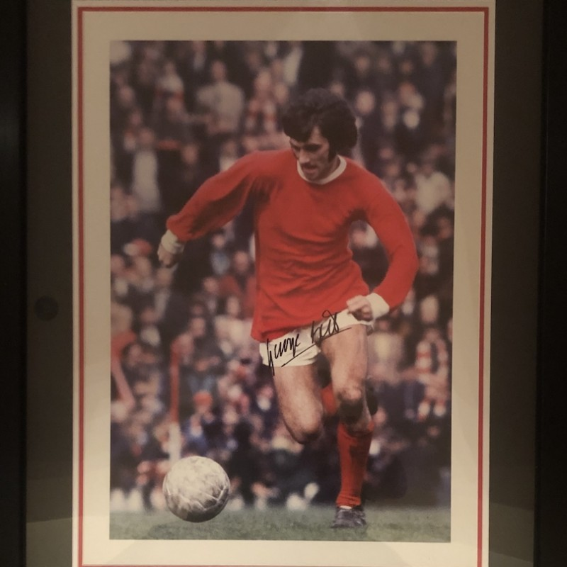"George Best ""El Beatle"" Signed Photo Display"