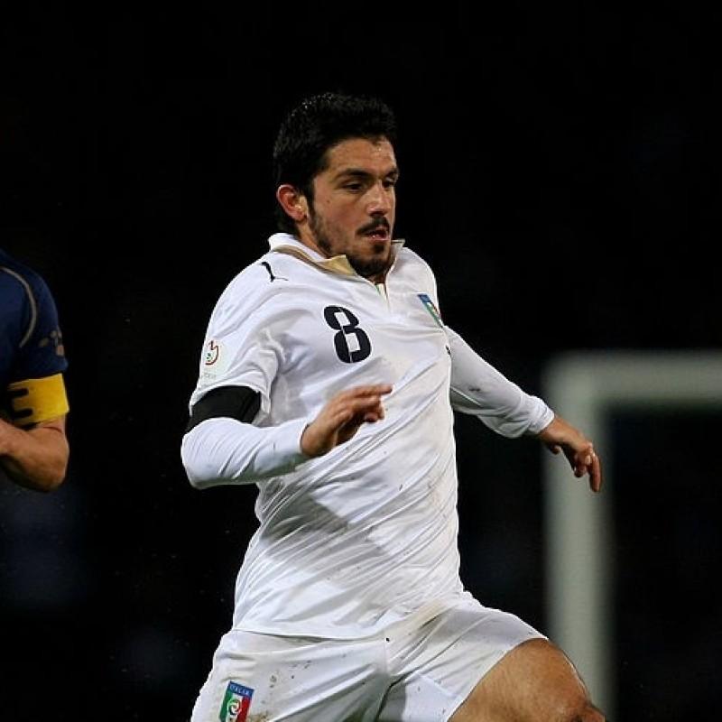 Gattuso's Official Italy Match Shirt, 2007/08