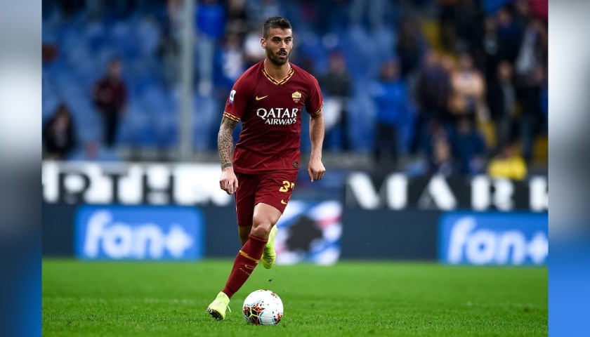 Spinazzola's Worn and Signed Shirt, Roma-SPAL 2019