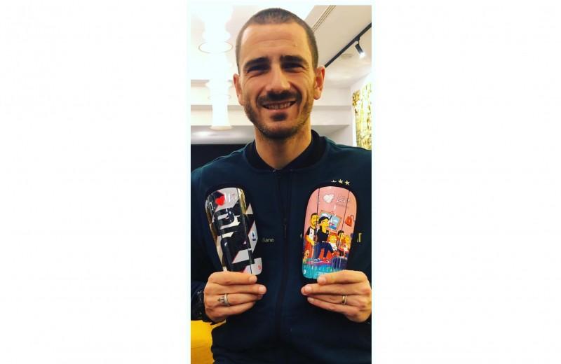 Bonucci's Simpsons Match Shin Pads, Serie A 2019/20